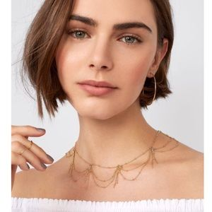 Bauble bar gold choker divinity necklace
